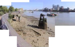 River Thames beach