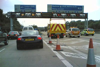 M25 diversion