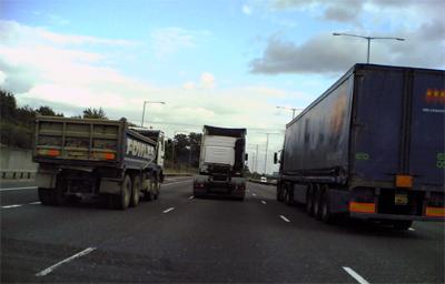 truck overtaking