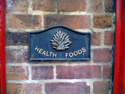 Health Foods plaque