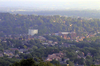 Oxted from the North Downs