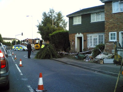 Burgh Heath accident