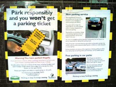 Oxted parking notice