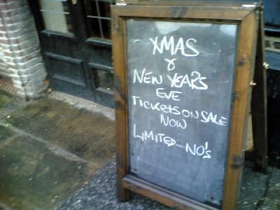 Christmas Pub Sign